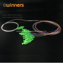 Divisor de cable de fibra óptica PLC tipo tubo de acero 1X16