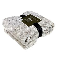 Manta de franela de bordes plegables manta de franela gruesa