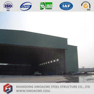 Hangar dos aviões da estrutura de aço do período grande