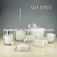 Transparent Polyresin Bathroom Set (WBP0201A)
