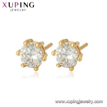 96184 Xuping jewelry China wholesale single gemstone stud earrings for women