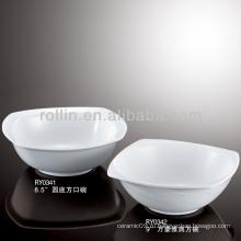 Популярная гостиница и ресторан Белая керамическая миска, салатница