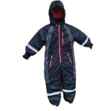Black Hooded Reflective Waterproof Jumpsuits/Overall/Raincoat