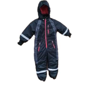 Black Hooded Reflective Waterproof Jumpsuits/Overall/Raincoat