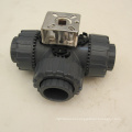 3 way pvc water valve lever operated ball valve