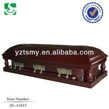 cercueil de velours blanc frêne U.S.