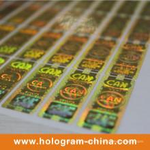 Impression d'étiquettes d'hologramme de sécurité or