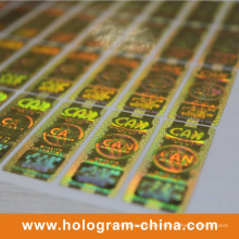 Gold Security Hologram Label Printing