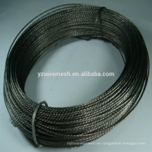 Alambre de hierro retorcido recocido negro