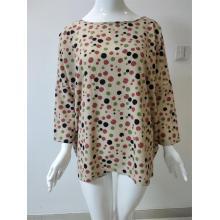Рубашка с круглым вырезом и принтом из полиэстера