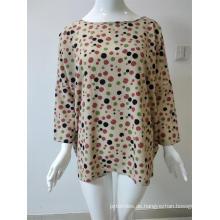 Rundhals-Shirt mit Polyester-Print