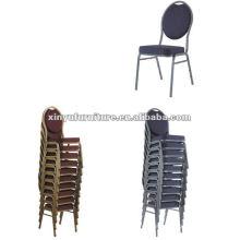 Cadeira de empilhamento de metal banquete XA168