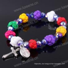 Heißer Verkaufs-geringes Art und Weise populäres religiöses heiliges Rosenbeet-Armband
