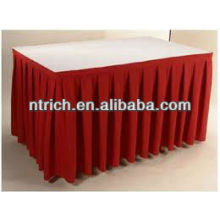 Conference table skirt, polyester table skirt, beautiful table skirt