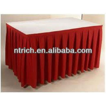 Conferencia tabla tabla del poliester, falda falda bonita mesa