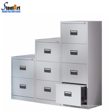 Armoire à tiroirs en métal à fermeture centralisée verticale 4 tiroirs