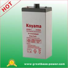 2V batería industrial -2V200ah para el sistema de comunicación