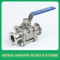 3 robinets à tournant sphérique sanitaires SS304