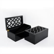 Caja de artesanía de madera con acabado de piano para regalo (628192)