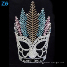 Fashion colored crystal large pageant crowns, new customized crowns Rhinestone tiara crown, custom made tiara