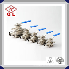 Sanitary Stainless Steel Three Way Ball Valve