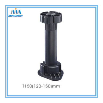 Plastice adjustable leg with 2 clips in 120-150mm
