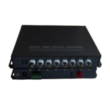 8 CH HD Cvi / Ahd Fiber Optischer Konverter 1 CH Reverse Data Cvi Medien Optischer Transceiver