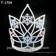 Copas de cristal de la Navidad del copo de nieve de la belleza