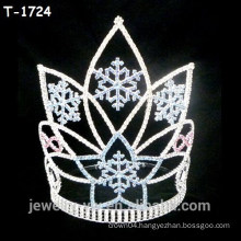 Beauty crystal snowflake christmas crowns