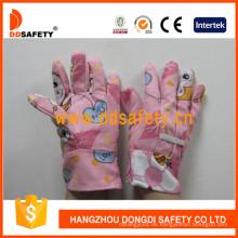 Kinder Gartenhandschuhe mit rosa Baumwolle Dgk103
