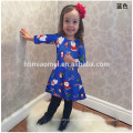 High Quality Blue Colorful Costume Dress For Children Christmas Girl Dress