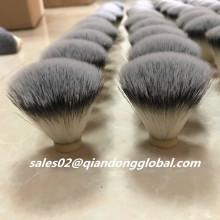 20mm Fan Shape Silver Synthetic Hair Knot