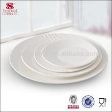 vaisselle en gros de porcelaine d'os autour des fournitures d'hôtel en céramique de plat usine