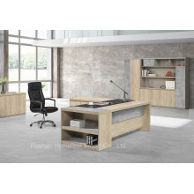 Cheap Wooden Color Melamine Manager Executive Office Table (HF-ZTHH1032)
