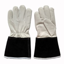 Heat Resistant Goat Leather Protective Hand TIG Welding Gloves