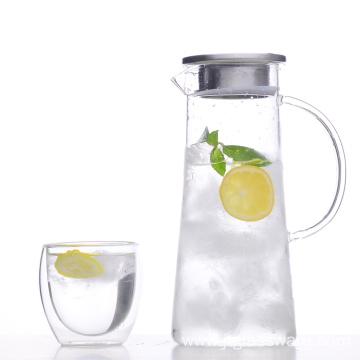 Mouthblown High Borosilicate Glass Water Pitcher