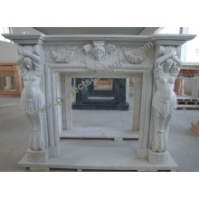 Fireplace Surround for Stone Marble Mantel (QY-LS393)