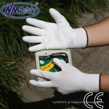 NMSAFETY 13 gauge nylon liner cleanroom eletrônico industy PU luva de trabalho