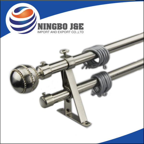 Window Curtain Pole With Metal Curtain Final