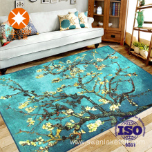 Van Gogh Style Pattern Printed Living Room Carpet
