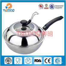 26cm stainless steel skillet fry pan with bakelite handle