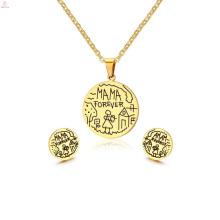 Легкий вес 2 грамма Индийский 22k золото покрыло дизайн Кундан ожерелье серьги комплект
