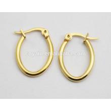 Günstige Titan Ohrringe für Frauen kleine Goldband Ohrringe
