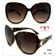 Plastic Ladies Sunglasses with Metal Decoration (WSP508366)