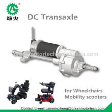 Motor de silla de ruedas 24V dc con eje de engranaje