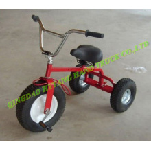 kids tricycle toy with ruber pneumatic wheel