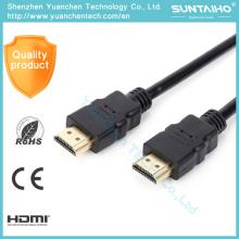 Cable de alta velocidad 1080P 3D HDMI del cable 4K de 1.4V HDMI