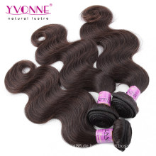 Farbe # 2 Menschliche Haarwebart Peruanisches Haar