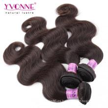 Color # 2 cabello humano tejido cabello peruano