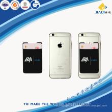 Material de silicona bolsa de tarjeta de teléfono móvil